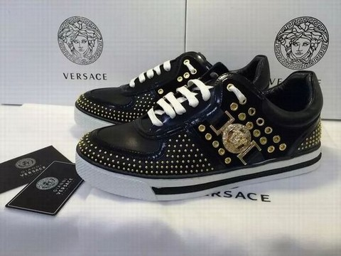 chaussure versace blanche montante